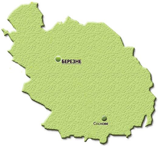 Карта ПТНЗ Березнівського р-ну