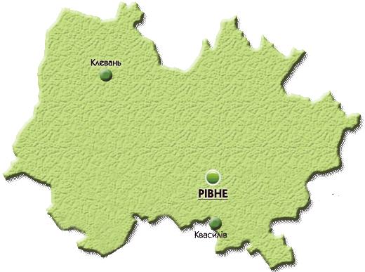 Карта закладів ПТО Рівненського р-ну